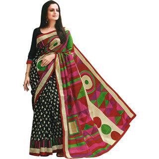 ARYAHI Multicolor Art Silk Printed Saree