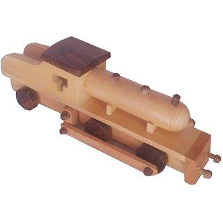 Desi Karigar beautiful mini wooden train engine toy showpiece