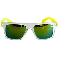 Derry Sunglasses In Wayfarer Style In Dual Green Shade With Mirror Lens(Goggles) DERY478