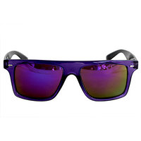 Derry Sunglasses In Wayfarer Style In Purple Sporty With Mirror Lens(In Case)(Goggles) DERY479