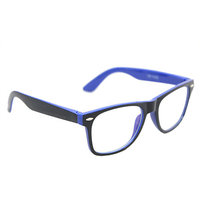 Derry Sunglasses In Wayfarer Style In Black And Dark Blue In Transparent Style DERY432