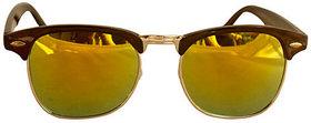 Derry ClubMaster Sunglass In In Green Mirror Look DERY236