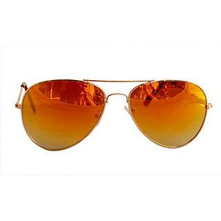 Derry Orange Mirrored Aviator Men Sunglasses