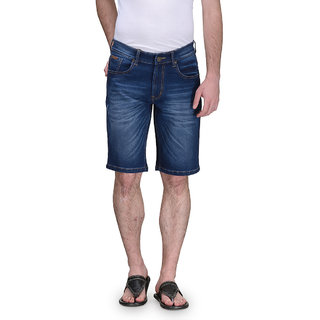 Canary London Blue Mens Elastane Casual Shorts