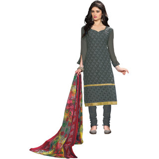 Lovely Look Grey Embroidered Un-Stitched Straight suit LLKKFBRCBOD1005