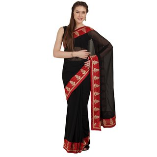Parchayee Multicolor Chiffon Embroidered Saree With Blouse