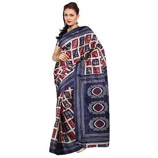 ARYAHI Beige Synthetic Art silk Printed Saree