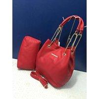 Designer Womens Hand Bag In Red Colour For Girls