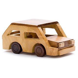 Desi Karigar beautiful wooden classical vintage car toy showpiece