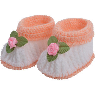 ebd7a40c7398 Buy White Baby wool shoes   Knitted wool shoes   Baby booties   Pre ...