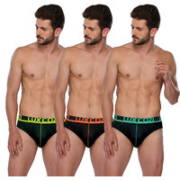 Lux Cozi GLO Assorted Pack of 3 Cotton Briefs
