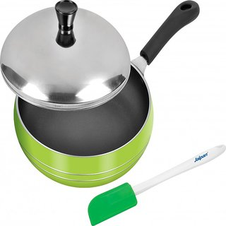 Jaipan Belly Fry-Pan with lid non-stick cookware JBFP140