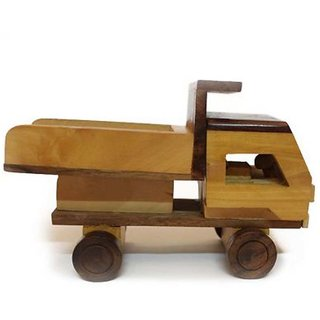 Desi Karigar beautiful wooden classical Dumper Truck toy showpiece