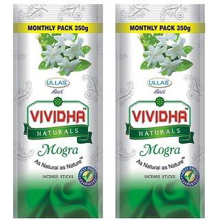 Ullas VIVIDHA Mogra Incense Sticks, 350 Gm Zipper Pouch, set of 2 Pouches