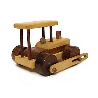 Desi Karigar beautiful wooden classical Army Tank Toy showpiece
