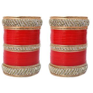 Red Bridal Punjabi Choora, Wedding Chura