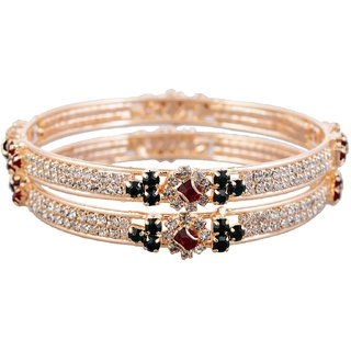 plated with pearl green online bangles and red gold stone buy designer