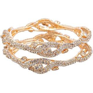 Golden Stone Bangles-Silver