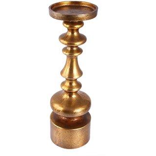 AnasaDecor Metal Golden Piller Candle Stand
