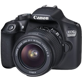 Canon EOS 1300D 18.0 MP DSLR Camera  Black  18 55 55 250mm Lens DSLR Cameras