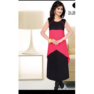 Designer Black Colored Styles Kurti