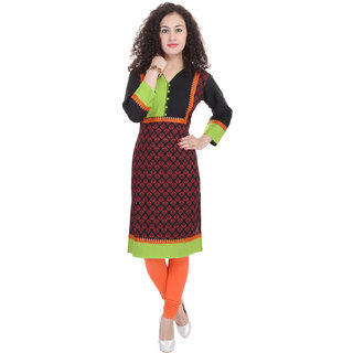 Beautiful Cotton Printed Multicolour Kurti From the house of Preksha
