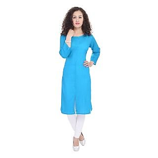 Beautiful Cotton Printed Blue Kurti From the house of Preksha