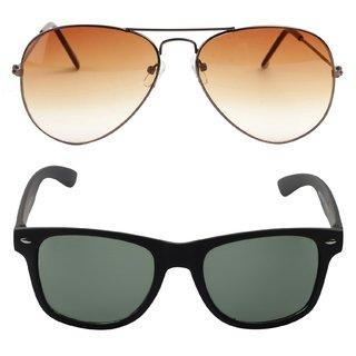 Fidato Dapper Aviator  Wayfarer Sunglasses Combo- FDSCAW01