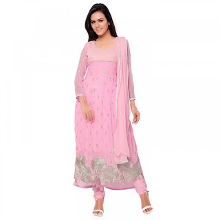 Aaina Pink Georgette Embroidered Suit (SB-3164)