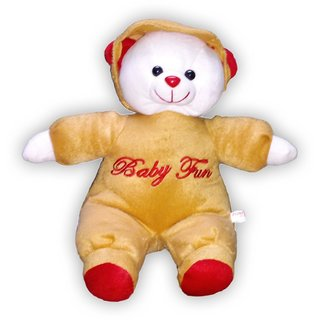 Big Brown Teddy With Santa Hat