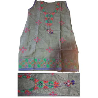 beautiful cotton kurta embroidery