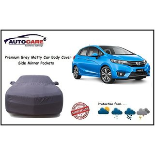 De AutoCare Grey Matty Car Body Cover Mirror Antenna Pocket For Honda Jazz