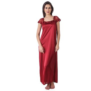 Buy Rk New Women Girls Rose Red Satin Night Dress Online Get 40 Off