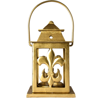 AnasaDecor Exclusive Lilly shape cast metal Lantern  candle holder