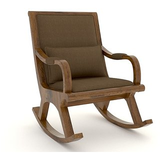 Tezerac -Huron Dolby Rocking Chair - Brown