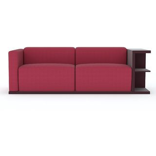 Tezerac -Kelfa Three Seater Sofa - Red