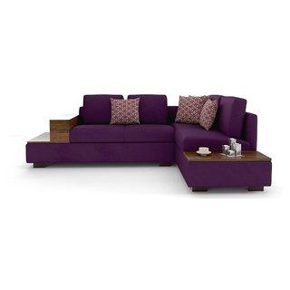 Tezerac -Nora L Shape Corner Sofa - Purple