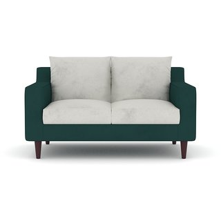 Tezerac -Porvo Two Seater Sofa - Green