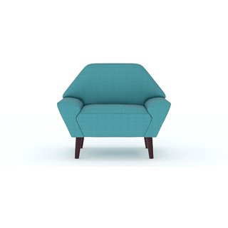 Tezerac -Avika Single Seater Sofa Chair - Aqua Blue