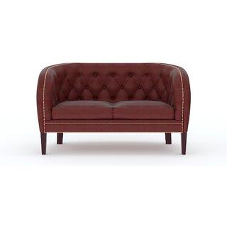 Tezerac -Faborg Two Seater Sofa - Dark Brown