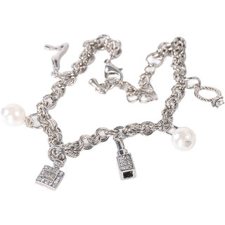 Adornia Silver charm Bracelet