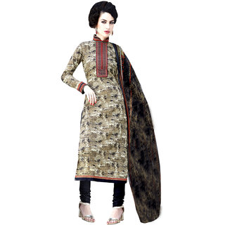 Sareemall Multicolor Cotton Embroidered Salwar Suit Dress Material (Unstitched)