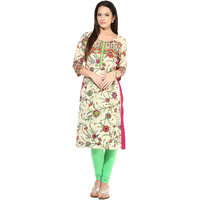 Prakhya Printed Womens Long straight cotton kurta-SW791PINK