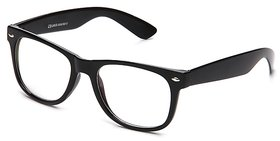 Gansta Gn-3030 Classic Black Wayfarer With Clear Lens For Driving