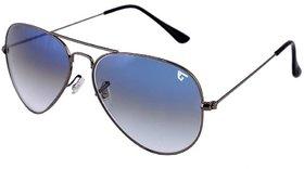 Gansta Nxt-Gn-3020 Cool Blue Glass Lens Aviator Sunglass