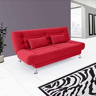 Estilo Sofa Cum Bed ( Red)