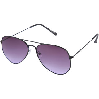 69a7264ed0608 Buy Gansta Gn-3002 Black Aviator Sunglass With Gradient Purple Lens ...
