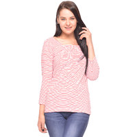 Vvoguish Pink Stripe Top (VVTOP784PNK)