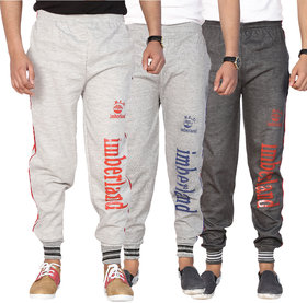 Swaggy Mens Multicolor Polyester Blend Trackpant(Pack of 3)
