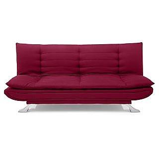Iris Sofa Cum Bed (Maroon)